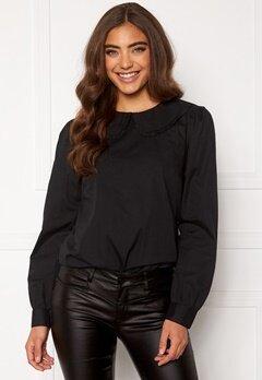 Happy Holly Leona blouse Black Bubbleroom.no