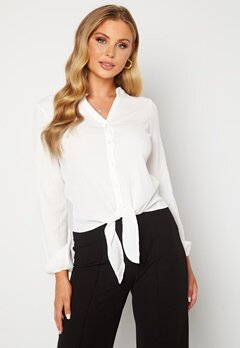 Happy Holly Lina knot blouse Offwhite Bubbleroom.no