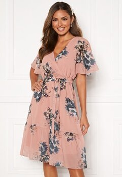 Happy Holly Linnea midi dress Dusty pink / Patterned Bubbleroom.no