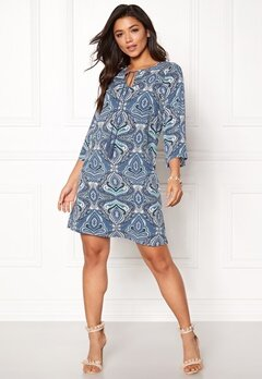 Happy Holly Livia dress Blue / Patterned Bubbleroom.no