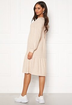Happy Holly Liz flounce dress Light beige / Melange Bubbleroom.no