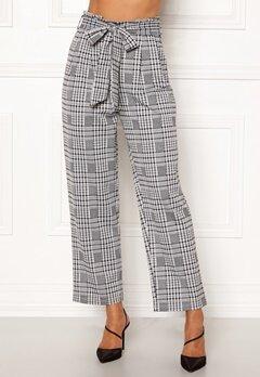 Happy Holly Luna paperbag wide pants Checked Bubbleroom.no