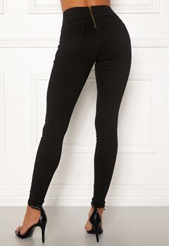Happy Holly Lyra zip pants Black Bubbleroom.no
