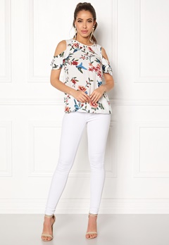 Happy Holly Maddy top Offwhite / Patterned Bubbleroom.no