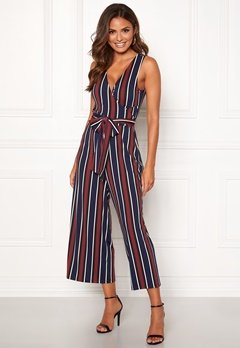 Happy Holly Madelene wrap jumpsuit Striped Bubbleroom.no