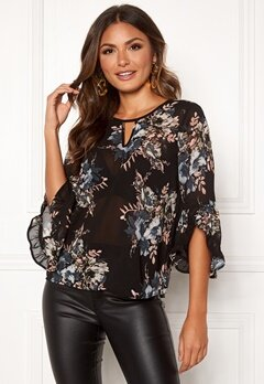 Happy Holly Madelyn Blouse Black / Patterned Bubbleroom.no