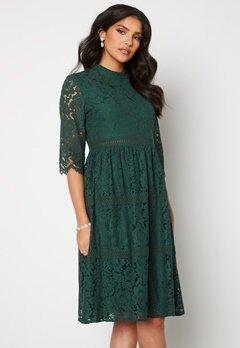 Happy Holly Madison lace dress Dark green Bubbleroom.no