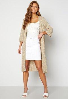 Happy Holly Madja long kimono Beige / Offwhite Bubbleroom.no