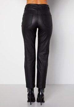 Happy Holly Maja coated pants Black bubbleroom.no
