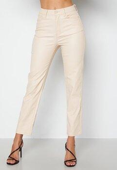 Happy Holly Maja coated pants Light beige bubbleroom.no