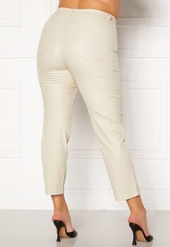 Happy Holly Maja coated pants Light beige Bubbleroom.no