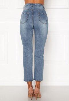Happy Holly Maja high waist jeans Light denim Bubbleroom.no