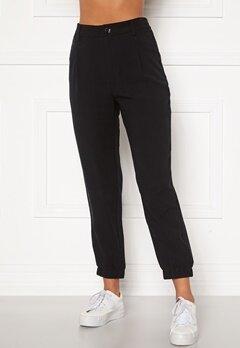 Happy Holly Maria woven pants Black Bubbleroom.no