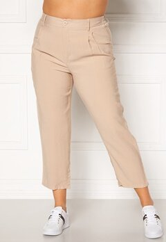 Happy Holly Maria straight leg pants Light beige Bubbleroom.no