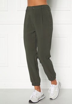 Happy Holly Maria woven pants Khaki green Bubbleroom.no