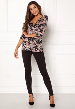 Happy Holly Marion top Pink / Patterned Bubbleroom.no