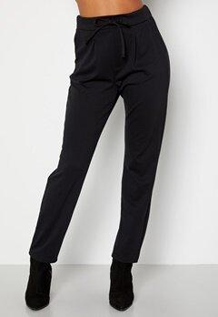 Happy Holly Mathilda high waist tricot pants Black bubbleroom.no