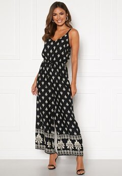 Happy Holly Matilda strap jumpsuit Black / Patterned Bubbleroom.no