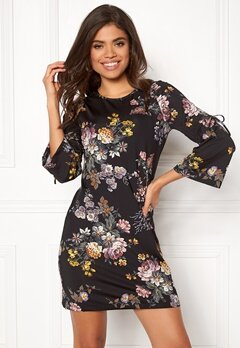 Happy Holly Melinda dress Black / Patterned Bubbleroom.no
