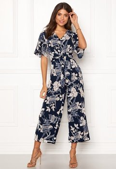 Happy Holly Michelle Jumpsuit Dark blue / Patterned Bubbleroom.no