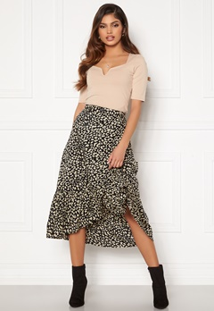 Happy Holly Michelle skirt Black / Beige Bubbleroom.no
