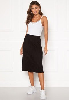 Happy Holly Mila rib skirt Black Bubbleroom.no