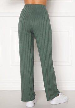 Happy Holly Mila wide pants Green Bubbleroom.no