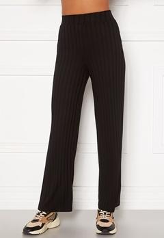 Happy Holly Mila wide pants Black Bubbleroom.no