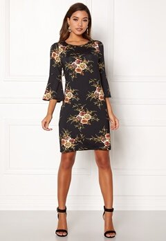 Happy Holly Milla dress Black / Patterned Bubbleroom.no