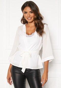 Happy Holly Milla kimono blouse Offwhite Bubbleroom.no