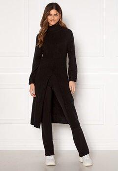 Happy Holly Milla long sweater Black Bubbleroom.no