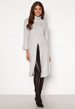 Happy Holly Milla long sweater Light grey melange Bubbleroom.no
