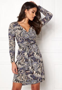 Happy Holly Millie wrap dress Blue / Patterned Bubbleroom.no