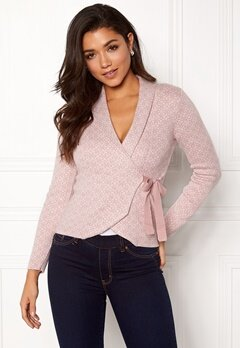 Happy Holly Mona cardigan Light pink / Offwhite Bubbleroom.no