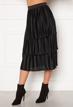 Happy Holly Naomi pleated skirt Black Bubbleroom.no