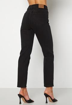 Happy Holly Natalie straight leg jeans Black denim Bubbleroom.no