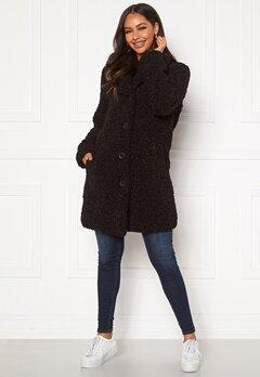 Happy Holly Nicole teddy coat Black Bubbleroom.no
