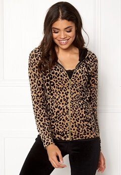 Happy Holly Nicole velour jacket Leopard Bubbleroom.no