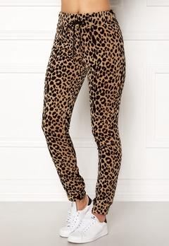 Happy Holly Nicole velour pants Leopard Bubbleroom.no