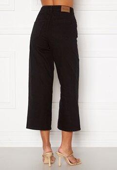 Happy Holly Pamela wide leg culotte jeans Black Bubbleroom.no