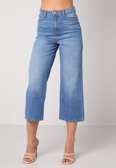 Happy Holly Pamela wide leg culotte jeans Medium denim Bubbleroom.no