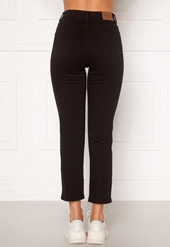 Happy Holly Peggy straight leg jeans Black denim Bubbleroom.no