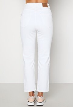 Happy Holly Peggy straight leg jeans White bubbleroom.no