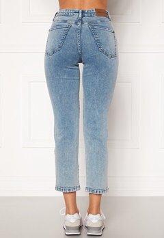 Happy Holly Peggy straight leg jeans Light denim Bubbleroom.no