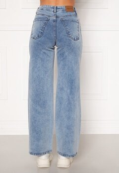Happy Holly Peggy wide leg jeans Light denim Bubbleroom.no
