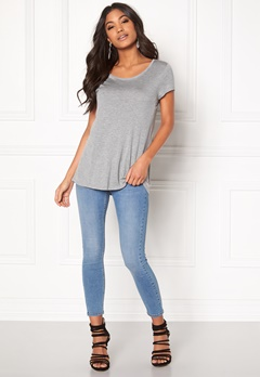 Happy Holly Ramona Top Grey melange Bubbleroom.no