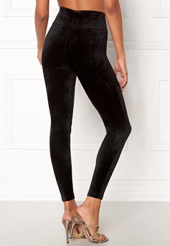 Happy Holly Reese velour pants Black Bubbleroom.no