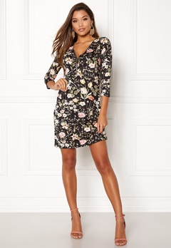 Happy Holly Renata dress Black / Patterned Bubbleroom.no