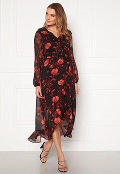 Happy Holly Rianna dress Black / Patterned Bubbleroom.no