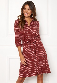 Happy Holly Ronja ls shirt dress Dotted Bubbleroom.no